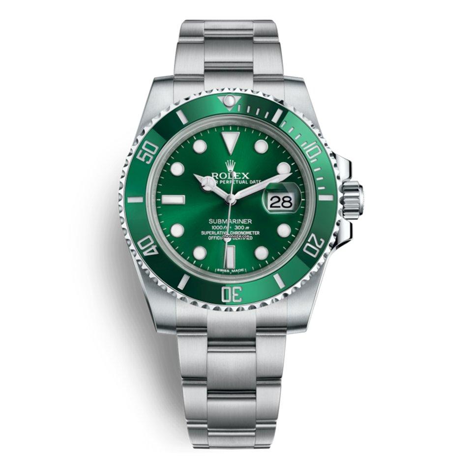 Rolex Submariner Date 116610LV Hulk 2020 nouveau
