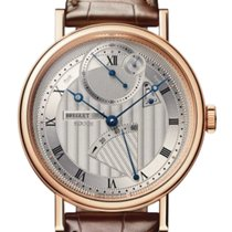 Breguet new Manual winding Guilloché dial Power Reserve Display 41mm Rose gold Sapphire crystal