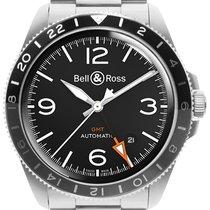 Bell & Ross BR V2 pre-owned 41mm Black Date GMT Steel