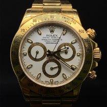 Rolex Daytona Or jaune 40mm Blanc Sans chiffres Belgique, bruxelles