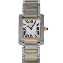 Cartier Tank Française Gold/Steel 20mm Silver Roman numerals United States of America, Maryland, Baltimore, MD