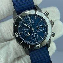 Breitling Superocean Heritage II Chronographe Сталь 44mm Синий Без цифр