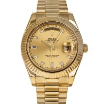 Rolex Day-Date II Yellow gold 41mm Gold No numerals