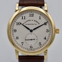 A. Lange & Söhne Gelbgold Handaufzug Silber 36mm gebraucht 1815
