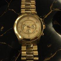 Michael Kors brugt Manuelt 45mm Guld Safirglas