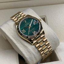 Rolex Lady-Datejust Żółte złoto 31mm Zielony Rzymskie