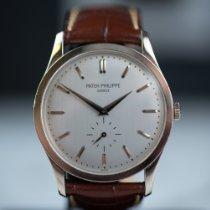 Patek Philippe Calatrava White gold 37mm Silver No numerals Australia