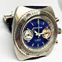 Sandoz Steel 40mm Manual winding chronographe sandoz pre-owned
