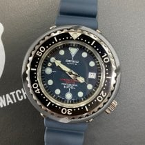 Seiko Prospex Титан 52.4mm Синий Без цифр