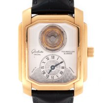 Glashütte Original Ouro rosa 37mm Corda manual 4301010106 usado