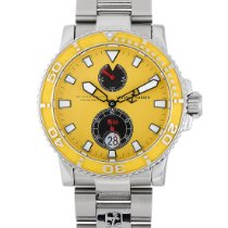 Ulysse Nardin Maxi Marine Diver pre-owned 42.5mm Yellow Date Steel