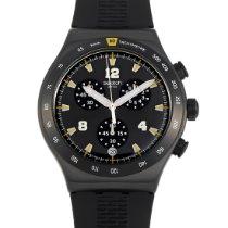 Swatch Steel Quartz Black 43mm new