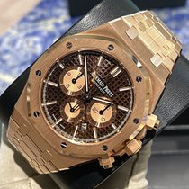 Audemars Piguet Royal Oak Chronograph Oro rosa 41mm Marrone Senza numeri Italia, Milano
