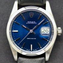 Rolex Oyster Precision Stahl 34mm Blau Schweiz, Geneva