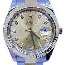 Rolex Datejust II Gold/Steel 41mm Gold No numerals