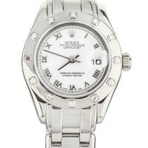 Rolex Pearlmaster Or blanc 29mm Blanc