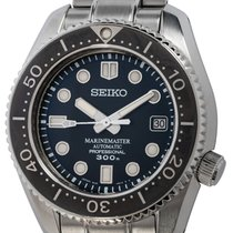 Seiko Steel Automatic Black 45mm pre-owned Marinemaster