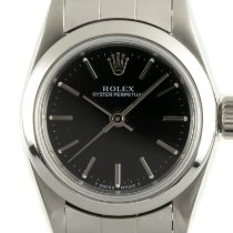 Rolex Oyster Perpetual Staal 26mm Zwart