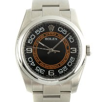 Rolex Oyster Perpetual 36 Staal 36mm Zwart
