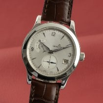 Jaeger-LeCoultre Master Hometime pre-owned 40mm Silver Date Leather