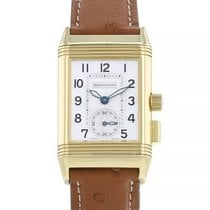 Jaeger-LeCoultre Reverso Memory Yellow gold 23mm Silver Arabic numerals