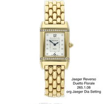 Jaeger-LeCoultre Reverso Duetto gebraucht 21mm Silber Gelbgold