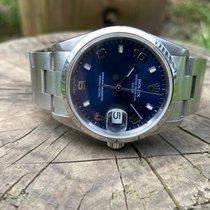 Rolex Oyster Perpetual Date Acier 34mm Bleu Sans chiffres