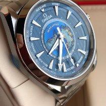 Omega Seamaster Aqua Terra Сталь 43mm Синий Без цифр