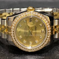 Rolex Lady-Datejust Gold/Steel 26mm Champagne No numerals Singapore