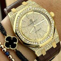 Audemars Piguet Royal Oak Selfwinding Yellow gold 39mm Silver No numerals