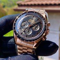 Omega Pозовое золото Черный новые Speedmaster Professional Moonwatch