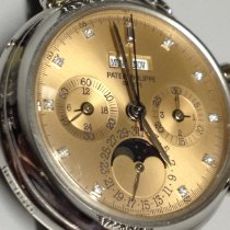 Patek Philippe Perpetual Calendar Chronograph usados 36mm Rosa Fase lunar Cronógrafo Calendario perpetuo Platino