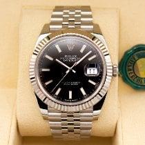 Rolex White gold Automatic Black No numerals 41mm new Datejust II
