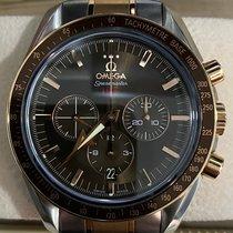 Omega Speedmaster Broad Arrow Gold/Steel 42mm Brown Singapore