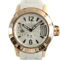 Jaeger-LeCoultre Master Compressor Diving GMT Yellow gold 38mm Silver