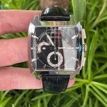 TAG Heuer Monaco Calibre 12 Steel 40.5mm Black No numerals United States of America, California, Los Angeles