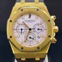 Audemars Piguet Royal Oak Chronograph Or jaune 39mm Blanc Sans chiffres