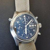 IWC Pilot Double Chronograph pre-owned 42mm Black Double chronograph Date Textile