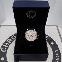 IWC Portofino (submodel) pre-owned 42mm Silver Chronograph Leather