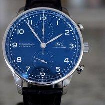 IWC Portuguese Chronograph Steel 41mm Blue Arabic numerals United States of America, Massachusetts, Boston
