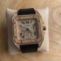 Cartier Santos 100 Rose gold 42mm Roman numerals United States of America, New York, Astoria