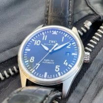 IWC Pilot Mark pre-owned 39mm Black Leather
