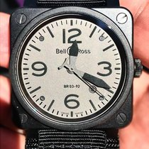Bell & Ross BR 03-92 Ceramic pre-owned 42mm Grey Date Leather
