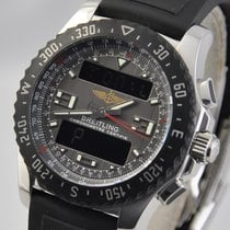 Breitling Airwolf pre-owned 43,5mm Black Chronograph Date Annual calendar GMT Rubber