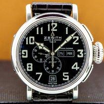 Zenith Pilot Type 20 Annual Calendar Steel 48mm Arabic numerals United States of America, Massachusetts, Boston