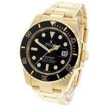 Rolex Yellow gold Black 40mm new Submariner Date