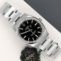 Rolex Oyster Perpetual 34 pre-owned 34mm Black Steel