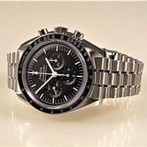 Omega Stahl Handaufzug Schwarz Keine Ziffern 42mm neu Speedmaster Professional Moonwatch