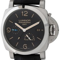 Panerai Luminor 1950 3 Days GMT Power Reserve Automatic Сталь Черный