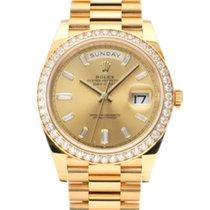 Rolex (ロレックス) デイデイト 40 新品 2021 自動巻き 正規のボックスと正規の書類付属の時計 228348RBR